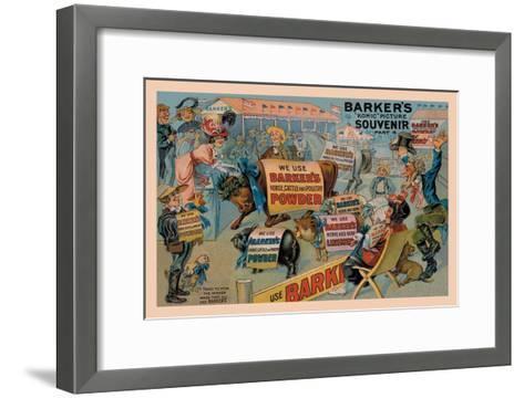 Barker's Horse, Cattle, and Poultry Powder--Framed Art Print