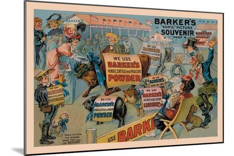 Barker's Horse, Cattle, and Poultry Powder--Mounted Art Print