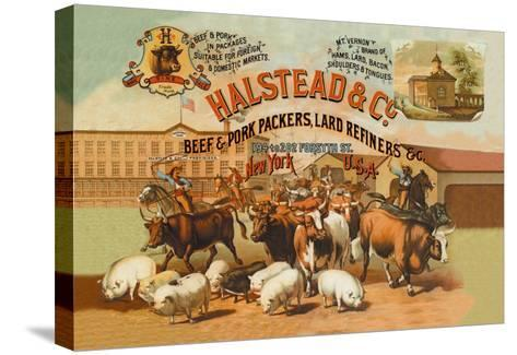 Halstead and Company Beef and Pork Packers-Richard Brown-Stretched Canvas Print