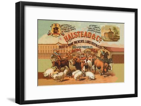 Halstead and Company Beef and Pork Packers-Richard Brown-Framed Art Print