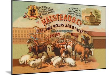 Halstead and Company Beef and Pork Packers-Richard Brown-Mounted Art Print