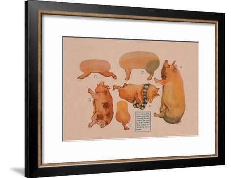 Paper Cutout Pig Dolls--Framed Art Print