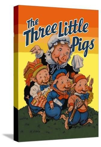 The Three Little Pigs-Milo Winter-Stretched Canvas Print