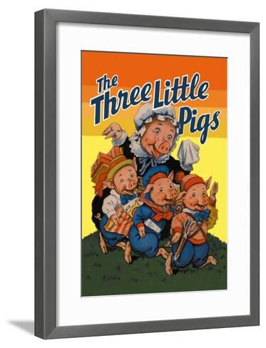 The Three Little Pigs-Milo Winter-Framed Art Print