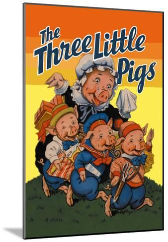 The Three Little Pigs-Milo Winter-Mounted Art Print