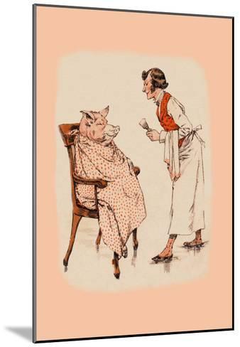 Shaving the Pig--Mounted Art Print