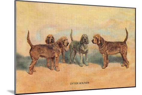 Otter Hounds-Thomas Ivester Llyod-Mounted Art Print