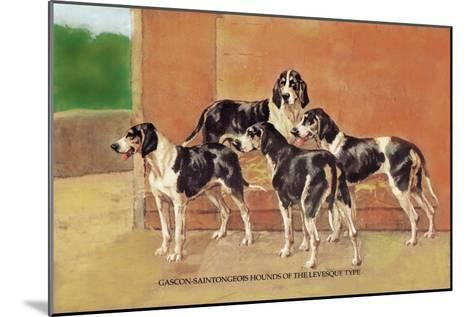 Gascon-Saintongeois Hounds of the Levesque Type-Thomas Ivester Llyod-Mounted Art Print