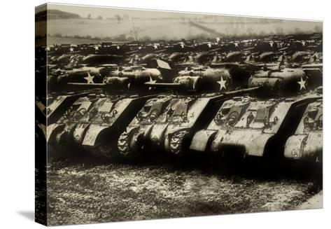 Sherman Tanks--Stretched Canvas Print