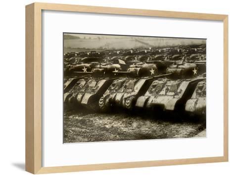 Sherman Tanks--Framed Art Print
