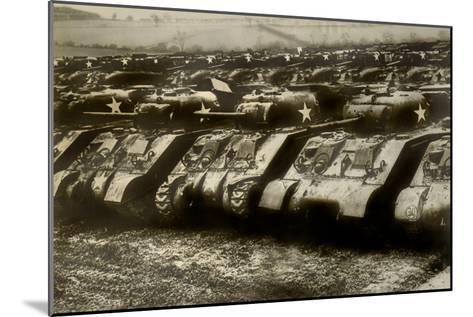 Sherman Tanks--Mounted Art Print