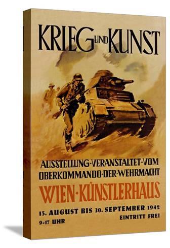 Krieg und Kunst--Stretched Canvas Print