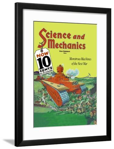 Monstrous Machines of the Next War--Framed Art Print