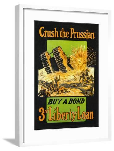 Crush the Prussian: Buy a Bond--Framed Art Print
