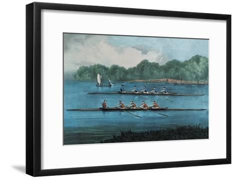Boat Race-Currier & Ives-Framed Art Print