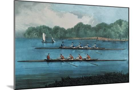 Boat Race-Currier & Ives-Mounted Art Print