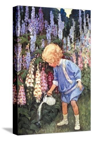 Fairy Gardens-Jessie Willcox-Smith-Stretched Canvas Print