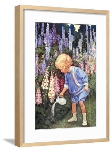 Fairy Gardens-Jessie Willcox-Smith-Framed Art Print