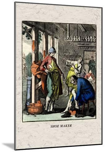 Shoe Maker--Mounted Art Print