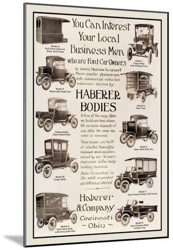 Haberer Bodies--Mounted Art Print