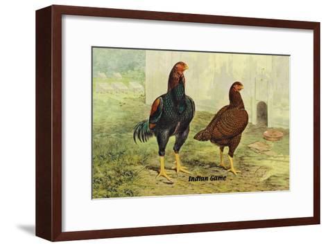 Indian Game--Framed Art Print
