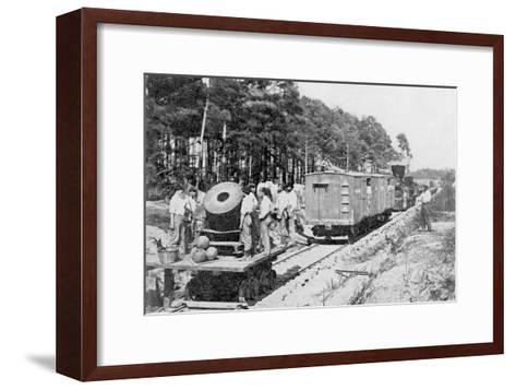 Movable Menace, The Railroad Mortar--Framed Art Print