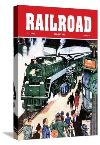 Railroad Magazine: The Limited, 1952--Stretched Canvas Print