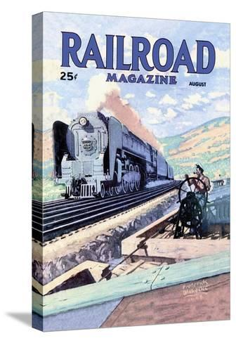 Railroad Magazine: The Mighty Railway, 1945--Stretched Canvas Print