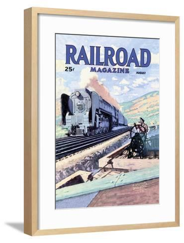 Railroad Magazine: The Mighty Railway, 1945--Framed Art Print