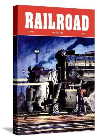 Railroad Magazine: Through the Night, 1950--Stretched Canvas Print