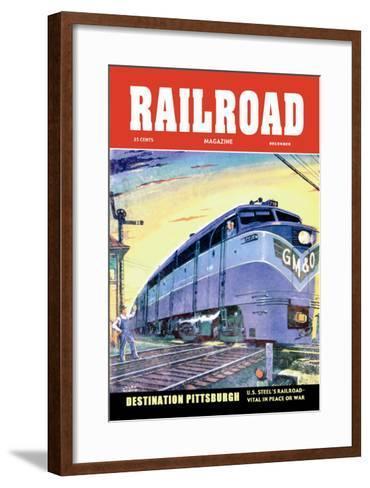 Railroad Magazine: Destination Pittsburgh, 1952--Framed Art Print