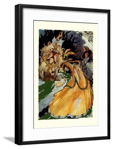 Cowardly Lion-John R^ Neill-Framed Art Print