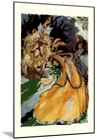 Cowardly Lion-John R^ Neill-Mounted Art Print