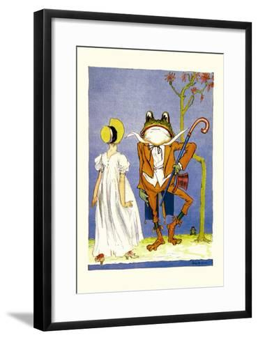 Dorothy and Frogman-John R^ Neill-Framed Art Print