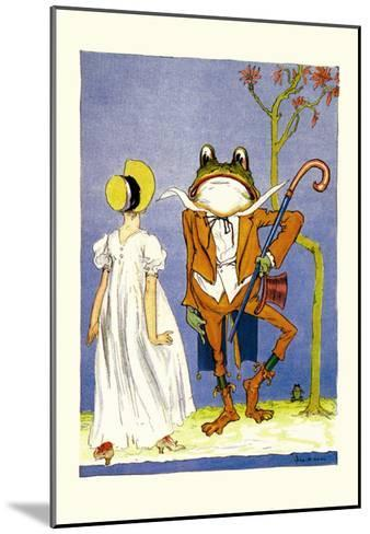 Dorothy and Frogman-John R^ Neill-Mounted Art Print