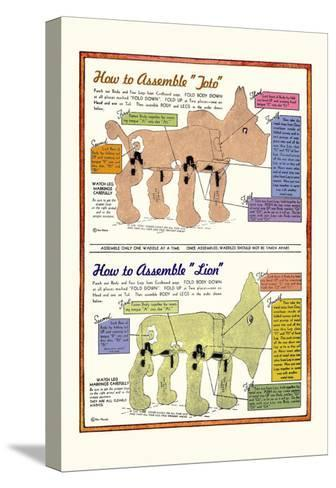 How to Assemble Toto-William W^ Denslow-Stretched Canvas Print