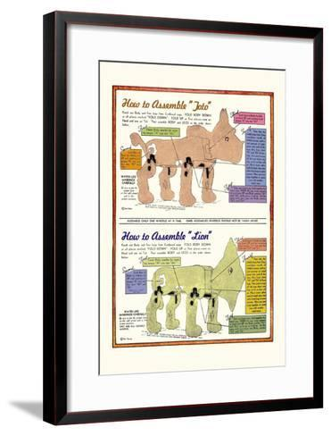 How to Assemble Toto-William W^ Denslow-Framed Art Print