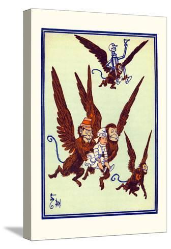 Monkeys Flew Away with Dorothy-William W^ Denslow-Stretched Canvas Print