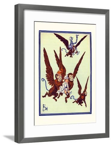 Monkeys Flew Away with Dorothy-William W^ Denslow-Framed Art Print