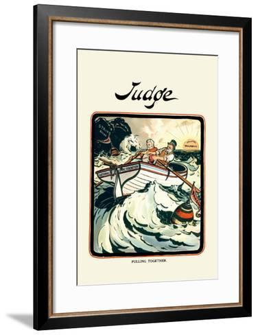 Judge: Pulling Together-Grant Hamilton-Framed Art Print