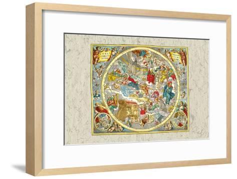 Sky Chart-Andreas Cellarius-Framed Art Print