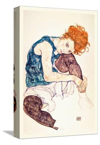 Painter's Wife, Seated-Egon Schiele-Stretched Canvas Print