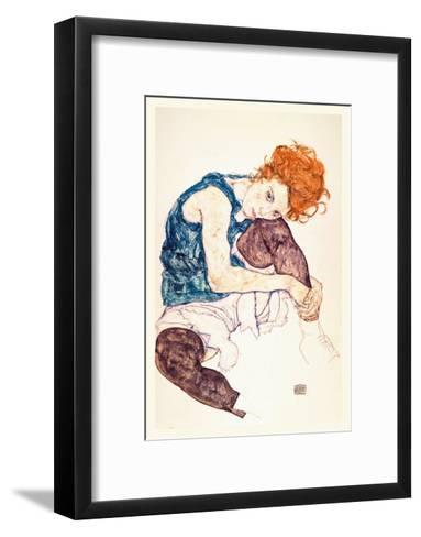 Painter's Wife, Seated-Egon Schiele-Framed Art Print