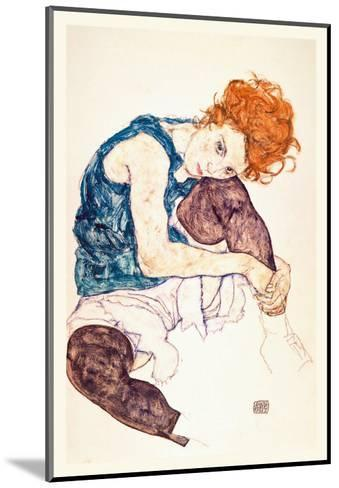 Painter's Wife, Seated-Egon Schiele-Mounted Art Print