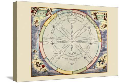 Theoria Trium Superiorum Planetarum-Andreas Cellarius-Stretched Canvas Print
