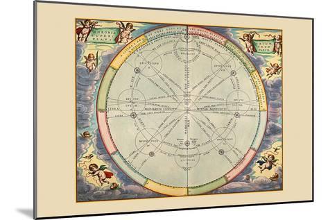 Theoria Trium Superiorum Planetarum-Andreas Cellarius-Mounted Art Print