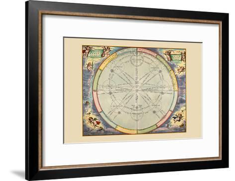 Theoria Trium Superiorum Planetarum-Andreas Cellarius-Framed Art Print