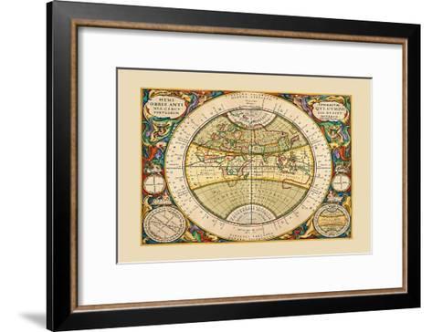 Hemisphaerium Orbis Antiqui-Andreas Cellarius-Framed Art Print