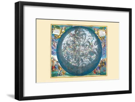 Hemisphaerii Borealis Coeli-Andreas Cellarius-Framed Art Print