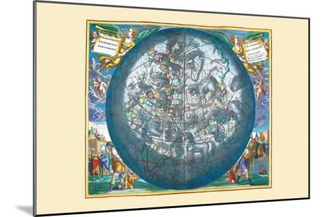 Hemisphaerii Borealis Coeli-Andreas Cellarius-Mounted Art Print
